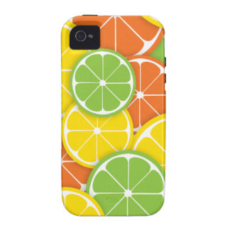 Citrus crush juicy round lemon lime orange slices iPhone 4/4S covers