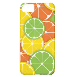 Citrus crush juicy round lemon lime orange slices iPhone 5C cases