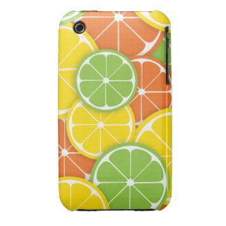 Citrus crush juicy round lemon lime orange slices Case-Mate iPhone 3 case