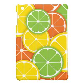 Citrus crush juicy round lemon lime orange slices case for the iPad mini