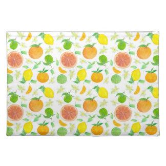 Citrus Fruit Placemat Grapefruit Orange Lemons