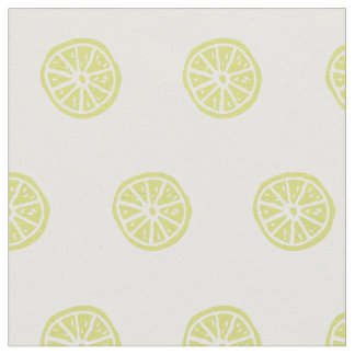 Citrus / lemon printed fabric