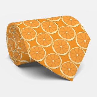 Citrus orange slice pattern tie