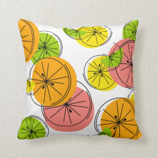 Citrus pink back square throw pillows