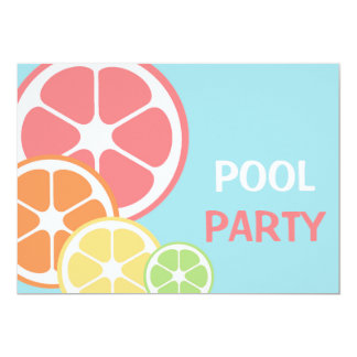 Citrus Pool Party Card