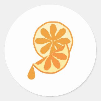 Citrus Slice Round Sticker