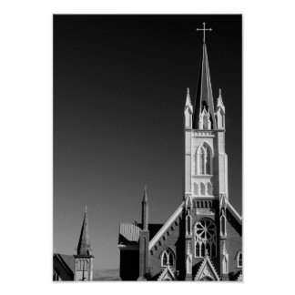 City Architecture Fragment Cathedral Urban Poster