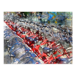City Bicycles in Barcelona Postcard