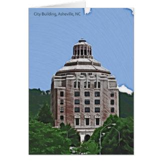 City Building, Asheville, NC Card