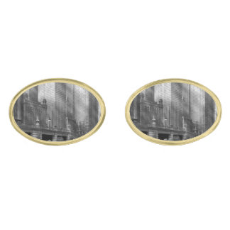 City - Chicago IL - Continuing a Legacy BW Gold Finish Cufflinks