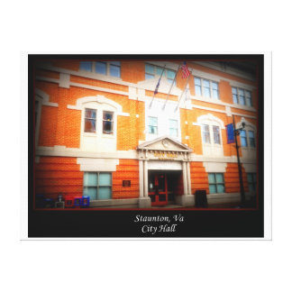City Hall Stretched Canvas Print