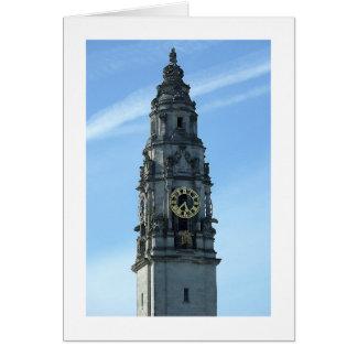 City Hall Clock Tower, Cardiff Card