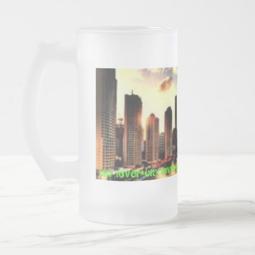 city lover frosted mug