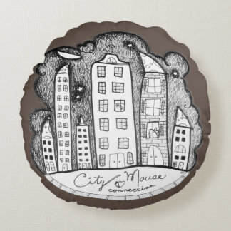 city mouse connection round cushion