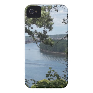 City of Dubuque, Iowa on the Mississippi River iPhone 4 Case-Mate Case