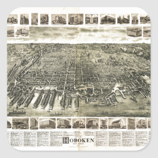 City of Hoboken, New Jersey (1904) Square Sticker