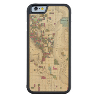 City Of Seattle And Environs Carved Maple iPhone 6 Bumper Case