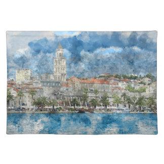 City of Split in Croatia Placemat
