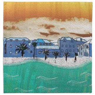 City on the sea Supetar Printed Napkin