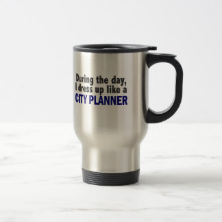 City Planner During The Day Stainless Steel Travel Mug