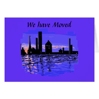 City Scape  We Have Moved card