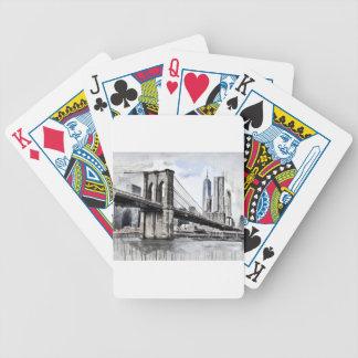 City Skyline Skyline City Cityscape Usa Bicycle Playing Cards