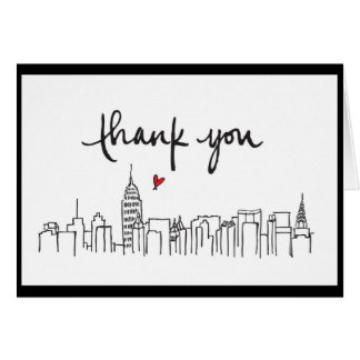 City Skyline with loving thanks design Card