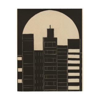 City Skyline Wood Prints