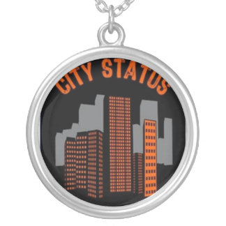 City Status Silver Plated Necklace