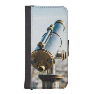 City Telescope Photograph, View Over Paris iPhone SE/5/5s Wallet Case