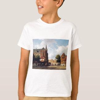 City view by Johan Hendrik Weissenbruch T-Shirt