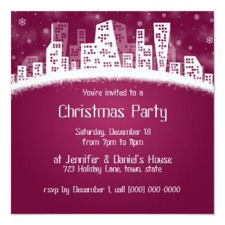 City Xmas Party Invitations