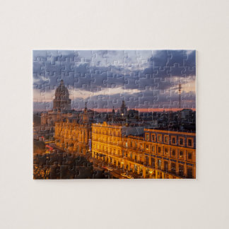 Cityscape at sunset, Havana, Cuba Jigsaw Puzzle