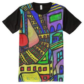 Cityscape Escape All-Over Print T-Shirt