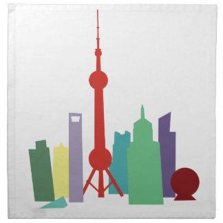 Cityscape Printed Napkin