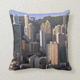 Cityscape of Hong Kong, China Cushion