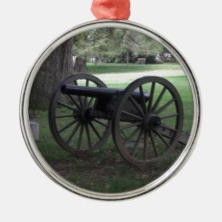 Civil War Cannon in Gettysburg Christmas Ornament