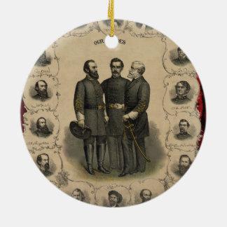 Civil War Heroes Christmas Ornament