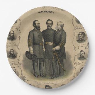 Civil War Heroes Paper Plate