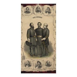 Civil War Heroes Photo Card