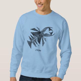 Civishi #218 Black, Abstract Sea Creature Sweatshirt