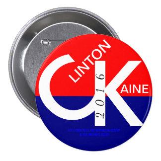 CK Clinton Kaine 2016 7.5 Cm Round Badge