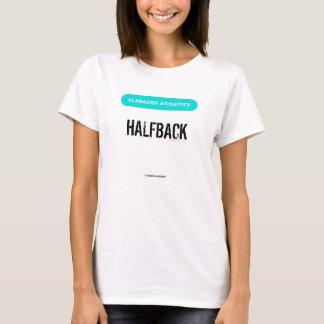 Clabaugh Athletics HALFBACK in white T-Shirt