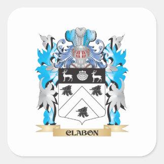 Clabon Coat of Arms - Family Crest Square Sticker