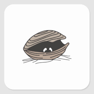 CLAM EYES SQUARE STICKERS