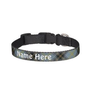 Clan Bell Tartan Customize Pet's Name Pet Collar