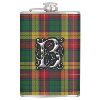 Clan Buchanan Tartan Old Scotland Flask