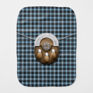 Clan Clark Tartan And Sporran Baby Burp Cloths