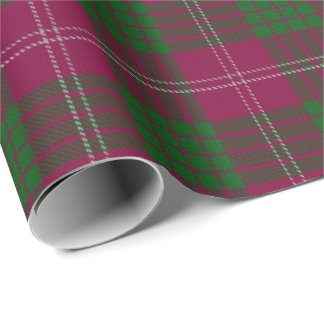 Clan Crawford Scottish Tartan Wrapping Paper
