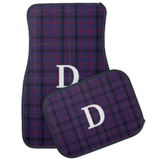 Clan Dondonald Monogrammed Plaid Car Mat Set